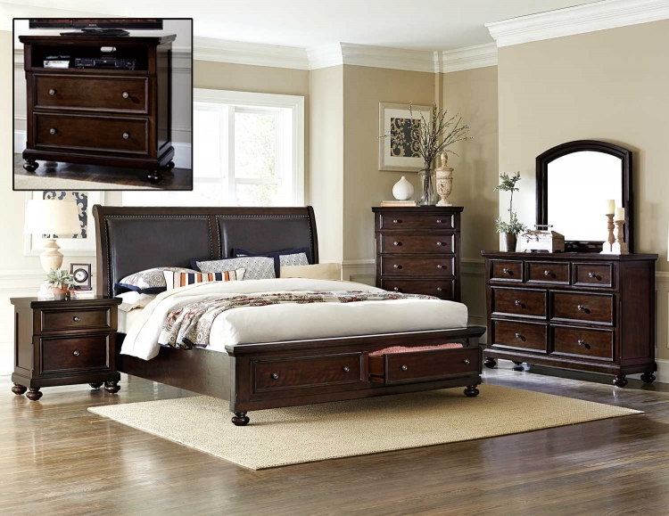 Faust Bedroom Set - Dark Cherry