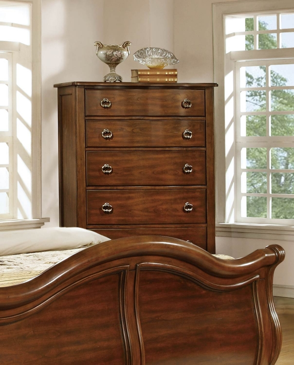 Davina Chest - Brown Cherry