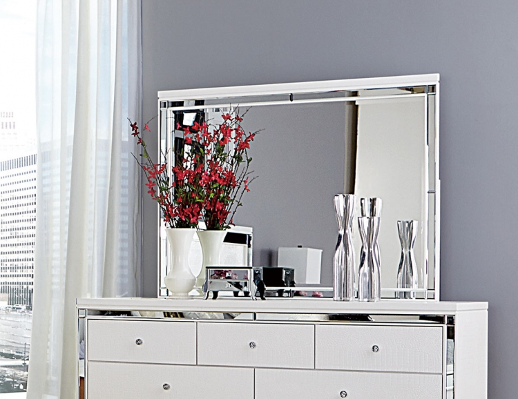 Alonza Mirror - White