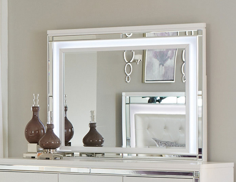 Homelegance Alonza Mirror with LED Lighting - Brilliant White