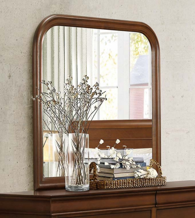 Homelegance Abbeville Mirror - Brown Cherry