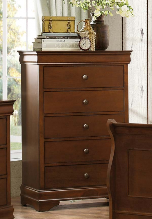 Abbeville Chest - Hidden Drawer - Brown Cherry