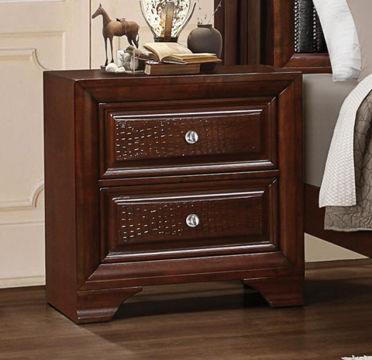 Owens Night Stand - Warm Cherry