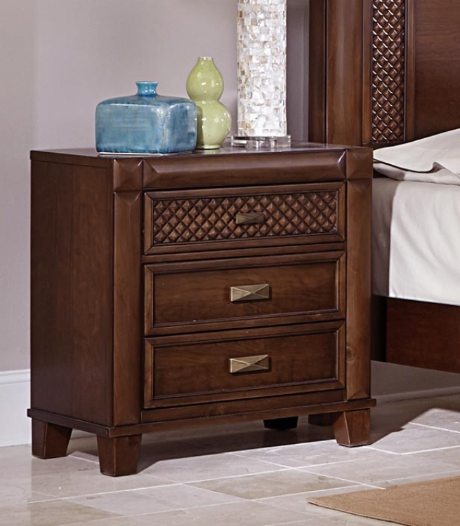 Nealon Night Stand - Warm Cherry