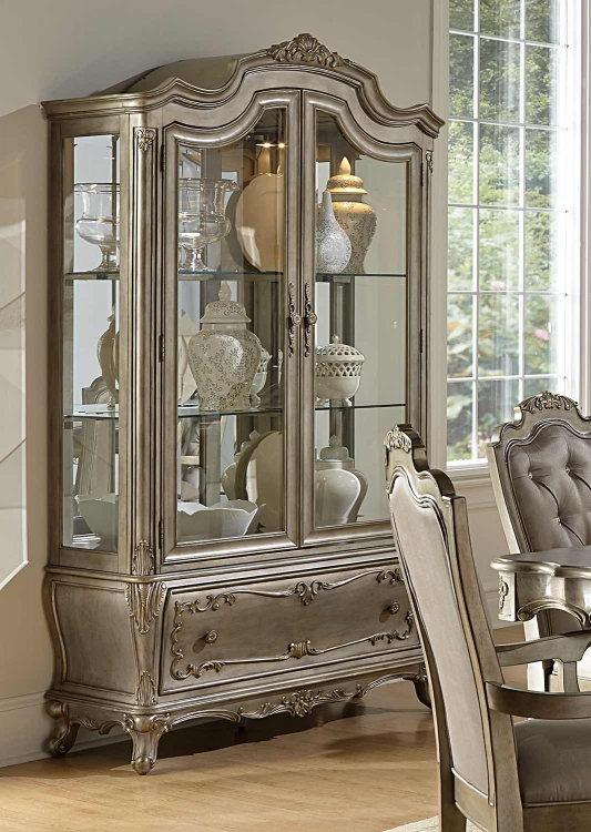 Florentina China Cabinet - Silver/Gold