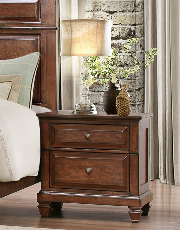 Bardwell Night Stand - Brown Cherry