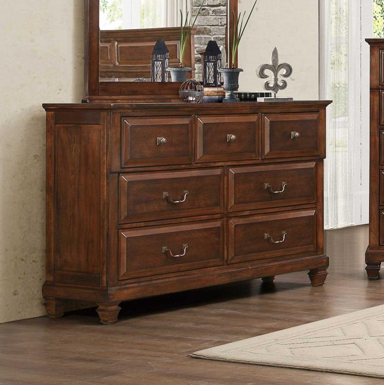 Bardwell Dresser - Brown Cherry