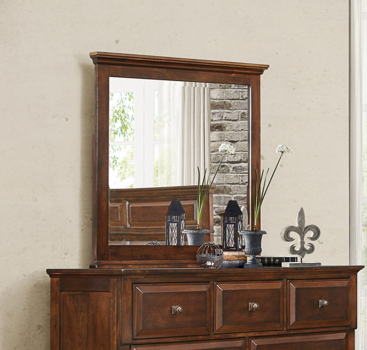 Bardwell Mirror - Brown Cherry