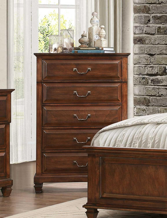 Bardwell Chest - Brown Cherry