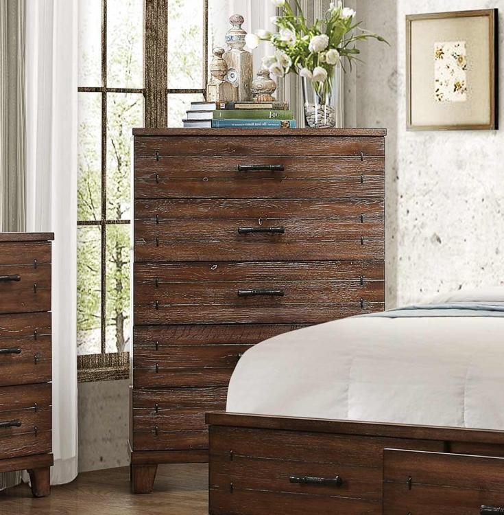 Brazoria Chest - Distressed Natural Wood