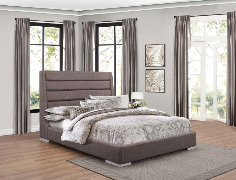 Fabriana Upholstered Bed - Grey