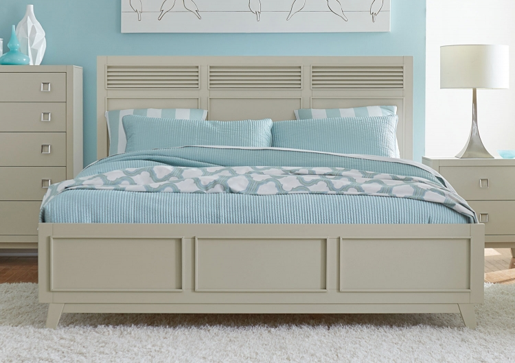 Valpico Panel Bed - Cool Grey/Olive Undertone