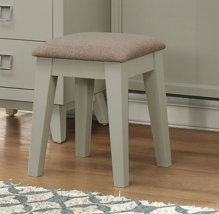 Valpico Vanity Stool - Cool Grey/Olive Undertone