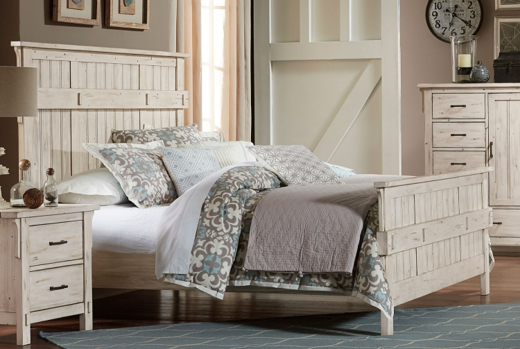 Terrace Bed - Antique White