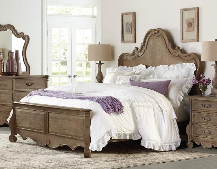Chrysanthe Bed - Oak