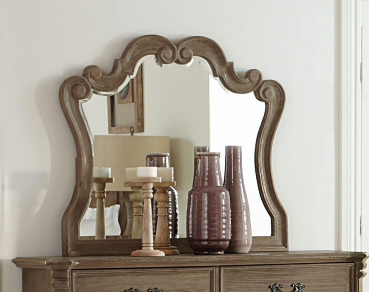 Homelegance Chrysanthe Mirror - Oak