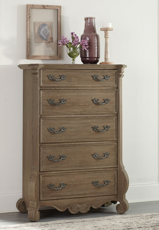 Chrysanthe Chest - Oak