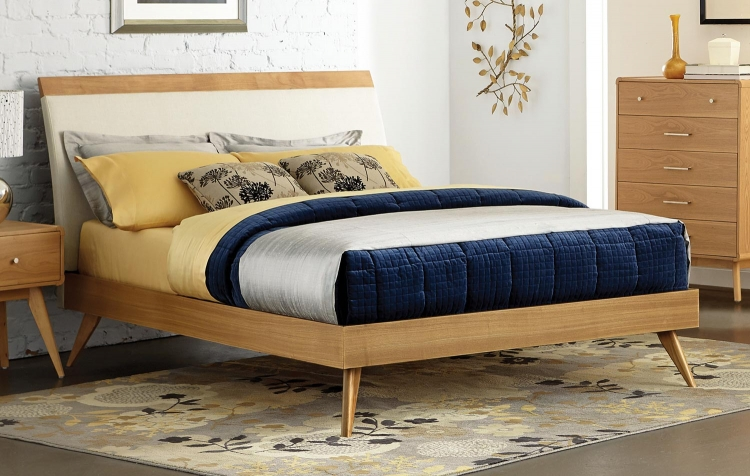 Anika Platform Bed - Light Ash