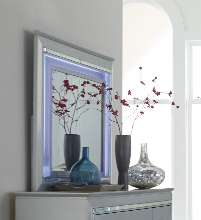 Homelegance Allura Mirror with LED Lighting - Silver