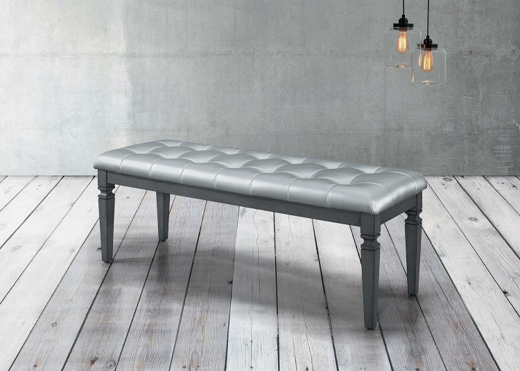 Allura Bed Bench - Gray