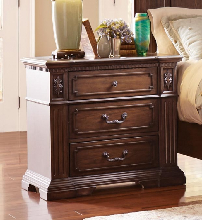 Dothan Park Night Stand - Rich Brown Cherry