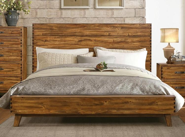 Sorrel Panel Platform Bed - Rustic