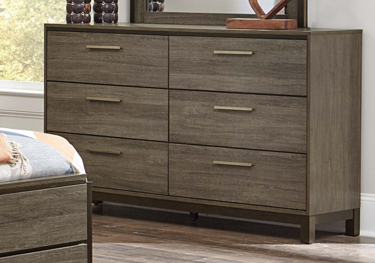 Vestavia Dresser - Grey/Dark Brown