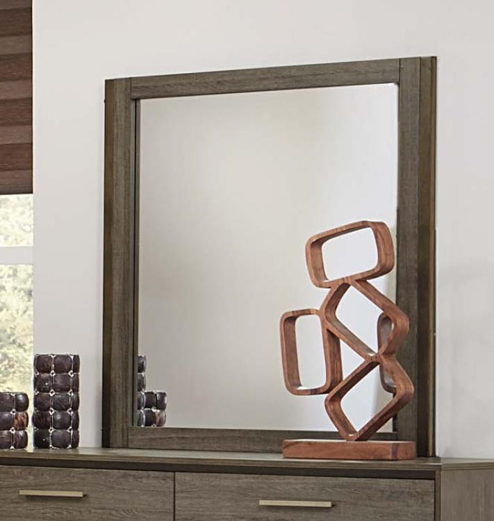 Vestavia Mirror - Grey/Dark Brown