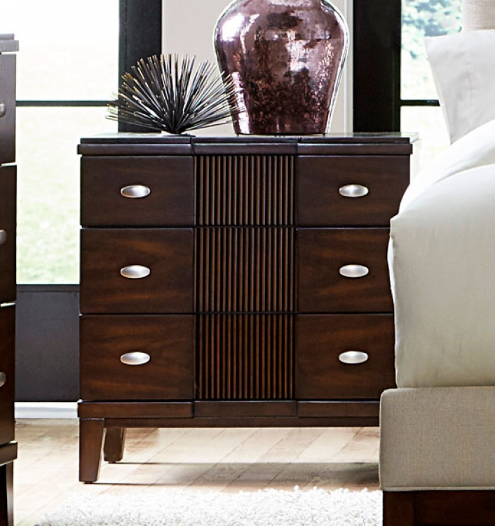 Pelmar Night Stand - Dark Walnut