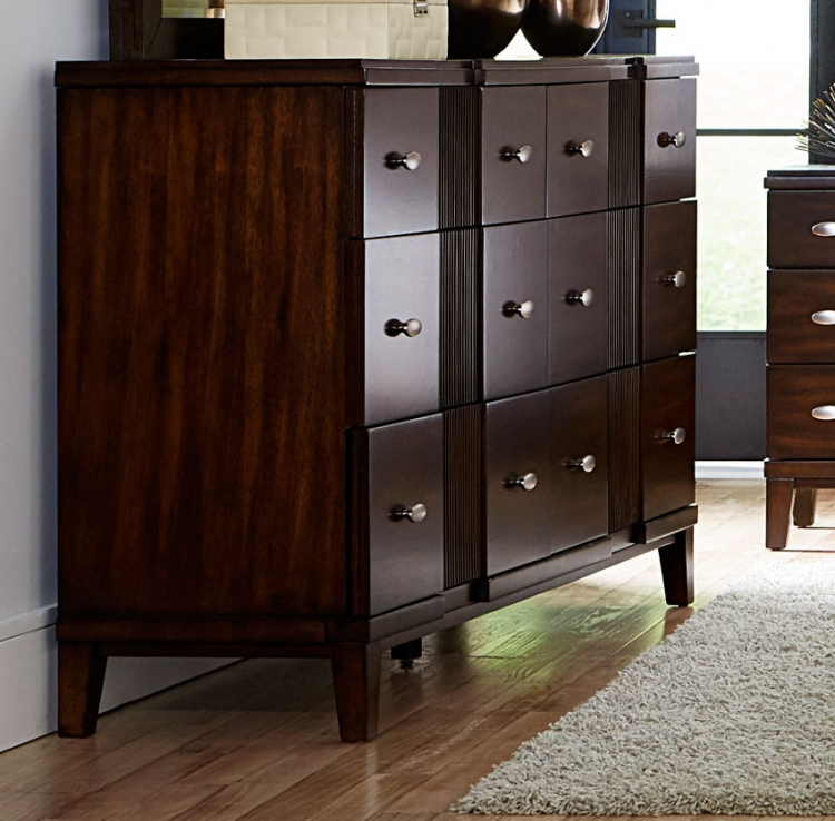 Pelmar Dresser - Dark Walnut