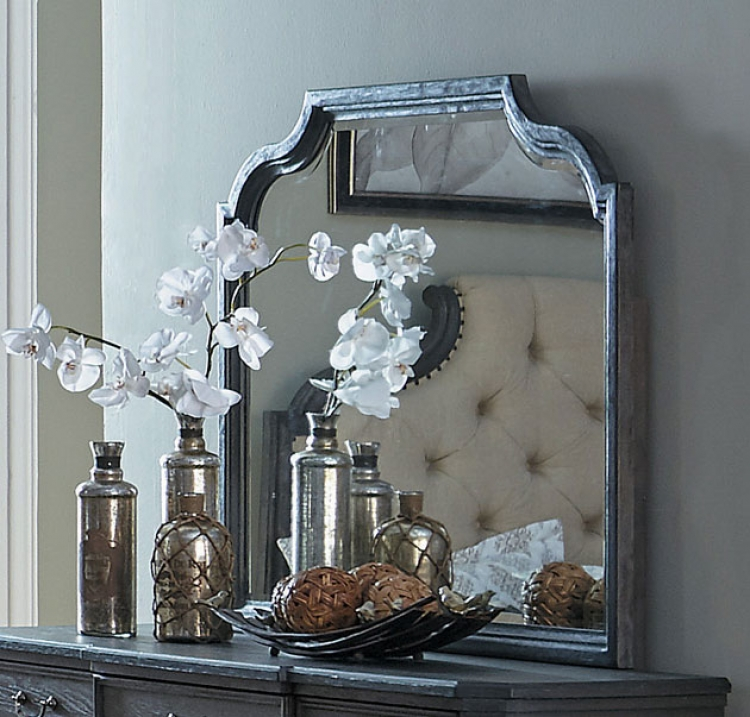 Homelegance Lindley Mirror - Dusty Gray