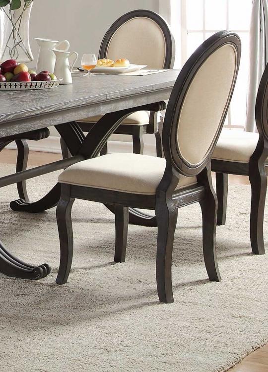 Lindley Side Chair - Walnut/Dusty Gray