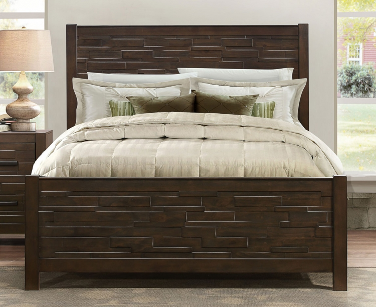 Bowers Bed - Rustic Java Brown