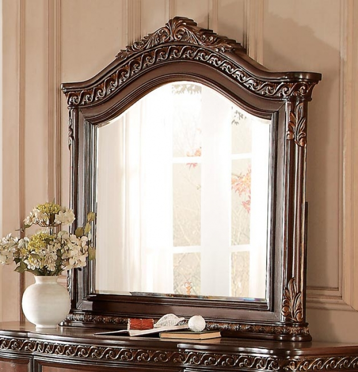 Chaumont Mirror - Burnished Brown Cherry