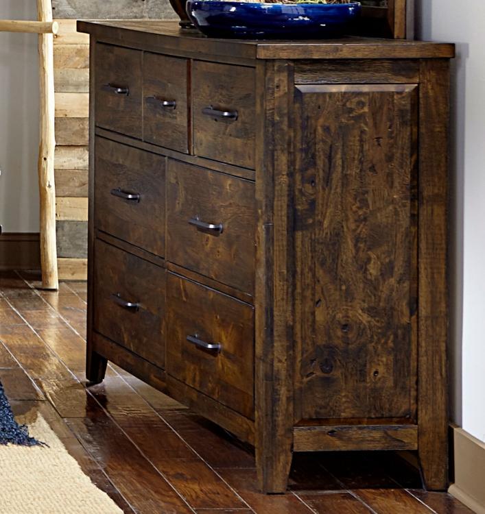 Jerrick Dresser - Rustic Burnished Wood