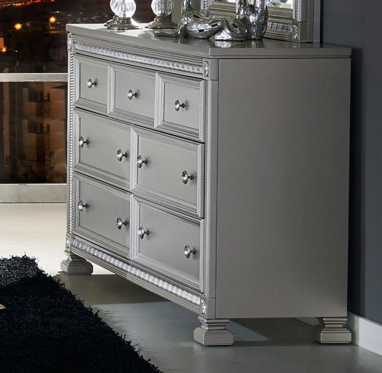 Bevelle Dresser - Silver