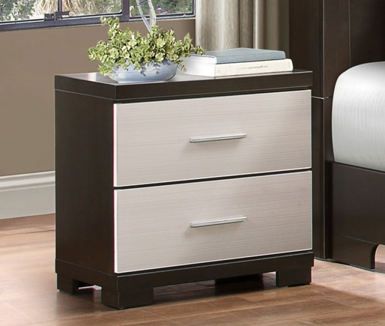 Pell Night Stand - Two-tone Espresso/White