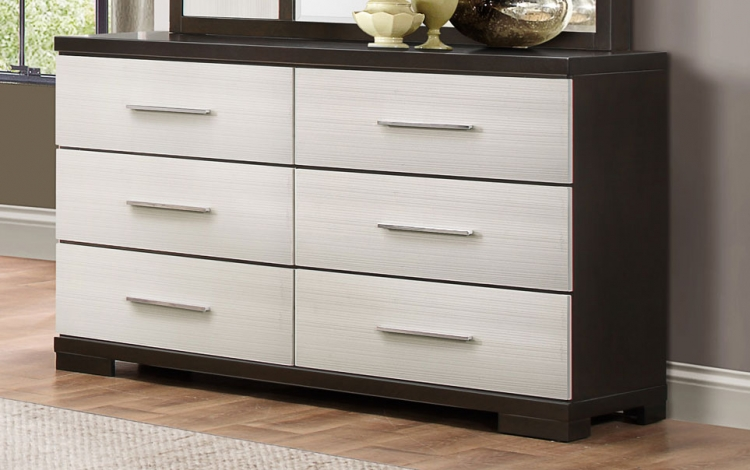 Pell Dresser - Two-tone Espresso/White