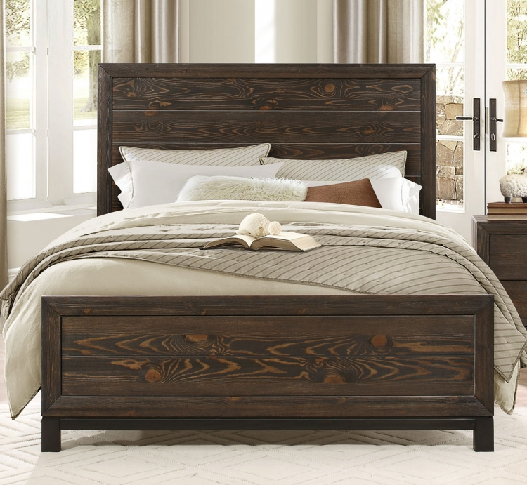 Branton Bed - Antique Brown