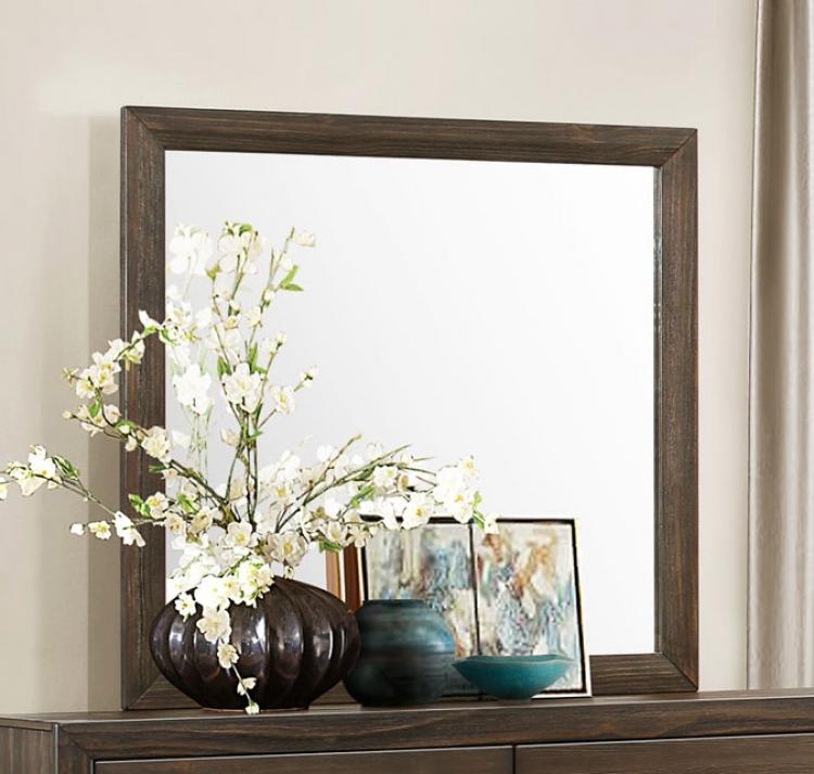 Branton Mirror - Antique Brown