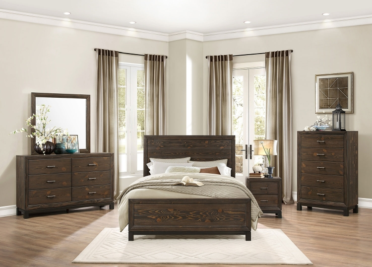 Branton Bedroom Set - Antique Brown