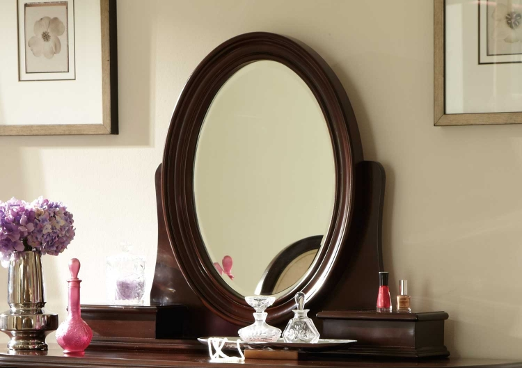 Lund Vanity Mirror - Rich Cherry - Homelegance