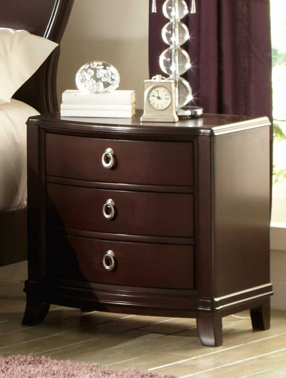Lund Night Stand - Rich Cherry - Homelegance