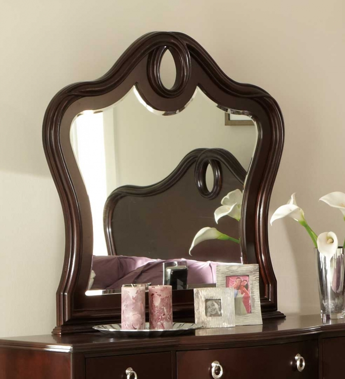Lund Mirror - Rich Cherry - Homelegance