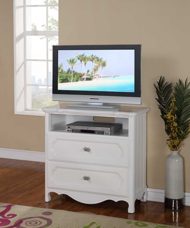 Hayley TV Chest - White