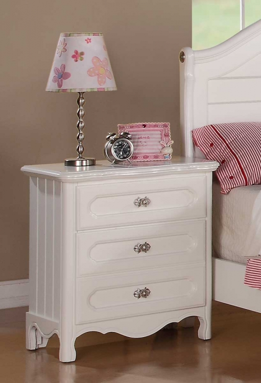 Hayley Night Stand - White - Homelegance