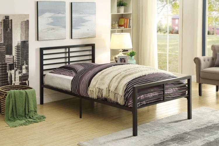 Gale Metal Platform Bed - Black