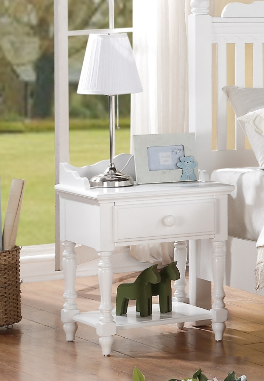 Emmaline Night Stand - White