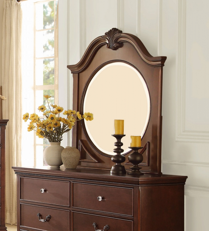 Homelegance Lucida Mirror - Cherry