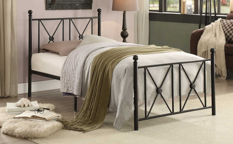 Mardelle Metal Platform Bed - Black